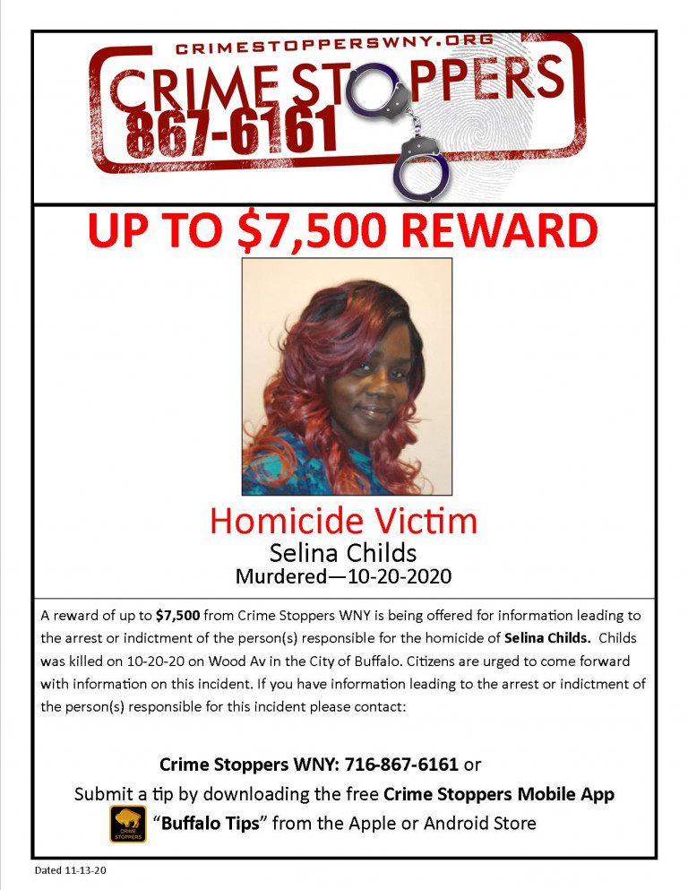 CrimeStoppers_HomicideVictim_SelinaChilds
