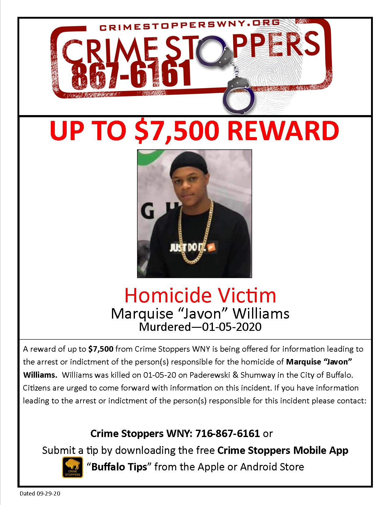 CrimeStoppers_HomicideVictim_MarquiseWilliams